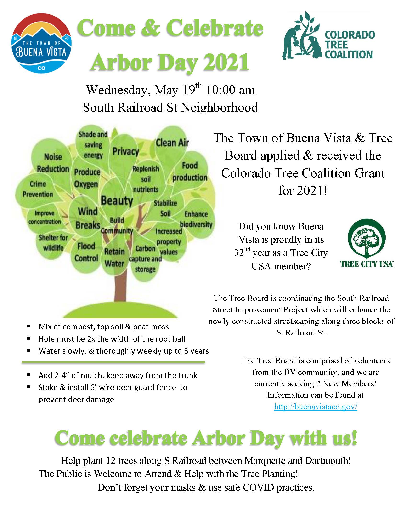 Arbor Day 2021 Celebration Flyer (PDF)