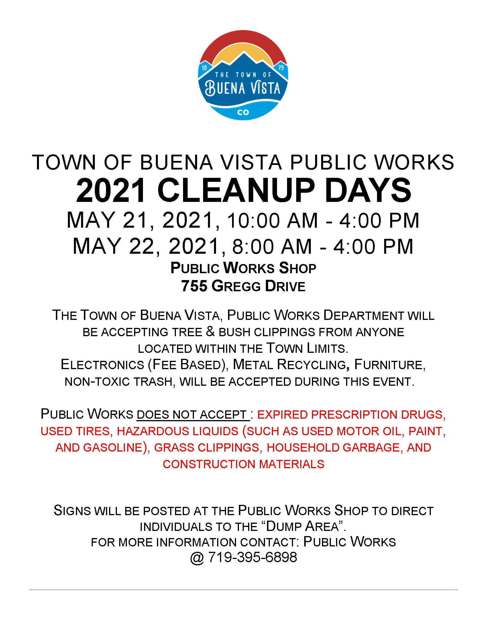 Clean Up Days Flyer (PDF)